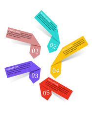 Infographics labels and banners elements