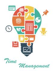 Business infographics in lightbulb shape