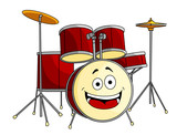 Drum set in cartoon style