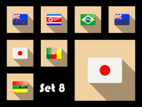 Flat icon of flags