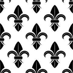Black and white fleur de lys pattern