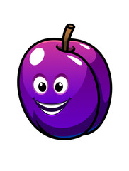 Colorful healthy fresh purple plum fruit