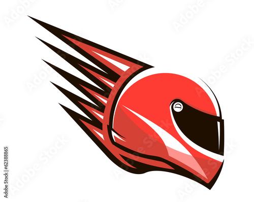 Fototapeta Racing helmet with speed spikes