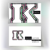 Business card design with letter K