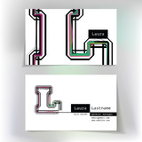 Business card design with letter L