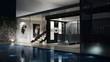 canvas print picture - 3D Luxus-Einfamilienhaus