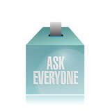 ask everyone ballot illustration design
