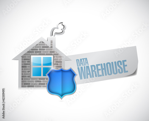 data warehouse sign illustration design