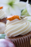 Easter Lily and Carrot Cake Muffins