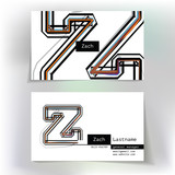 Business card design with letter Z