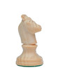 The knight. Wooden chess piece