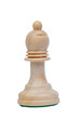 The bishop. Wooden chess piece