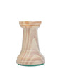 The rook. Wooden chess piece