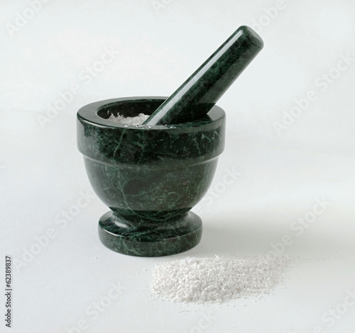 Mortar & Pestle with Crushed Substance
