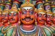 Leinwanddruck Bild - Ten Headed Ravana vahana in Kapaleeshvarar temple in Chennai