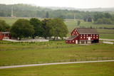 A red barn near the battles at Gettysburg