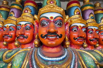 Ten Headed Ravana vahana in Kapaleeshvarar temple in Chennai