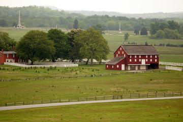 A red barn near the battles at Gettysburg