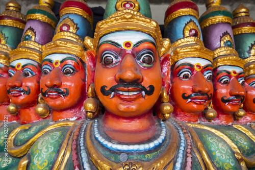 Leinwanddruck Bild Ten Headed Ravana vahana in Kapaleeshvarar temple in Chennai