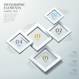 abstract frame option infographics