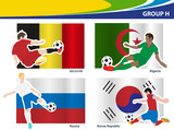 Soccer football players, Brazil 2014 group H Vector illustration