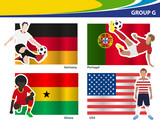 Soccer football players, Brazil 2014 group G Vector illustration