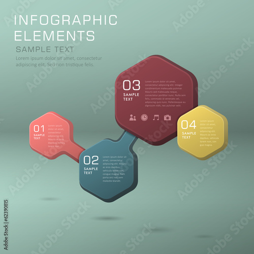 abstract flow chart infographics