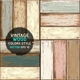Wooden vintage color texture background. vector illustration.