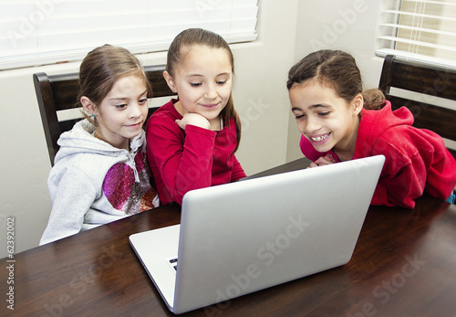 Kids playing on the computer