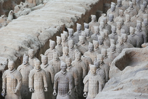 Plexiglas Xian Terra Cotta Warriors in Xian, China