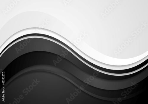Abstract wavy corporate design