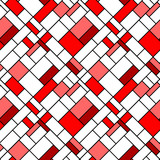 Colorful diagonal geometric squares seamless pattern in red
