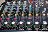 control panel voice mixer as part stage sound equipment