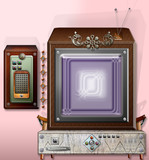 Vintage and steampunk television - series.