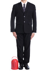 Businessman stand up with clipping path