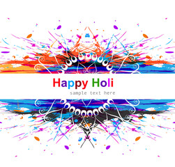 Vector colorful grunge indian holi beautiful celebration backgro