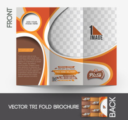 Pizza Shop Tri-Fold Mock up & Brochure Design