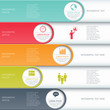Modern business infographics options banner. - 62393448