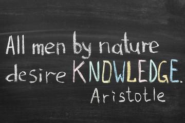 knowledge desire