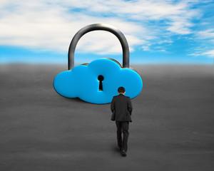 Walking toward cloud shape locker