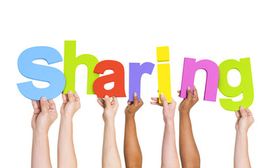 Diverse People Holding The Word Sharing