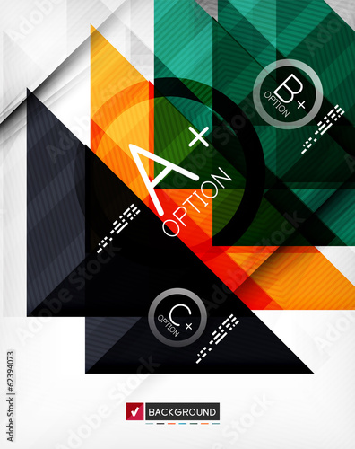 Business geometric infographic poster