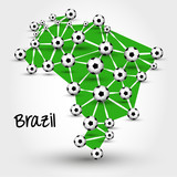 football map of brazil