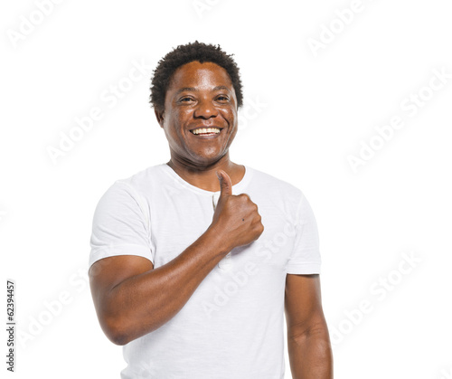 Happy African Man Giving Thumbs Up