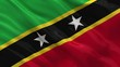 Flag of Saint Kitts and Nevis waving in the wind - seamless loop