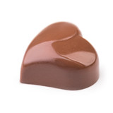 Chocolate truffle in shape of the heart