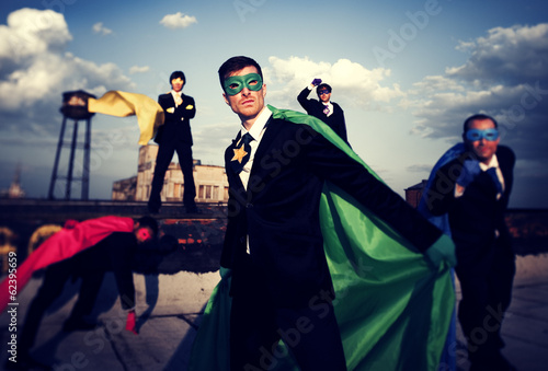 World Superhero Businessmen