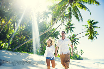 Couple on Tropical Paradise Beach