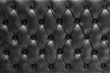 Fondo de textura de cuero acolchado en negro tipo chesterfield © Angel Simon