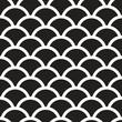 Fish scales  monochrome  Seamless Pattern